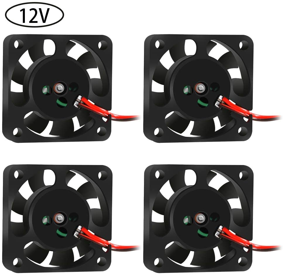 4PCS 4010 3D Printer DC Brushless Blower Cooling Fan Oil Bearing with 2 Pin Terminal for Hotend Extruder Heatsinks Makerbot MK7 MK8 CPU Chip Arduino Other Small Appliances Series Repair Replacement