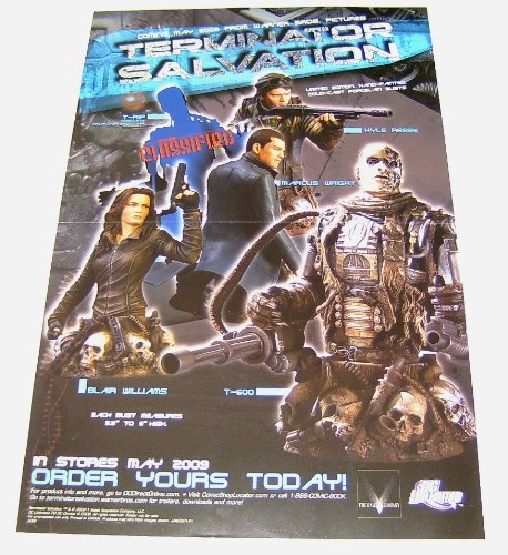"""17 by 11"""" Terminator Salvation Movie Action Figures:T-600/Marcus Wright/Blair Williams +"""