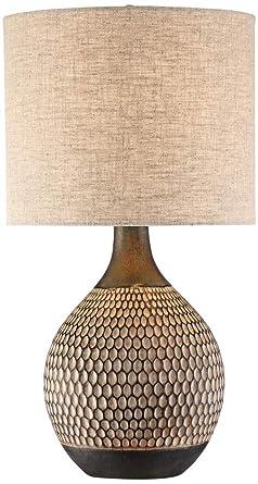 Emma Brown Ceramic Mid Century Table Lamp Amazon Com