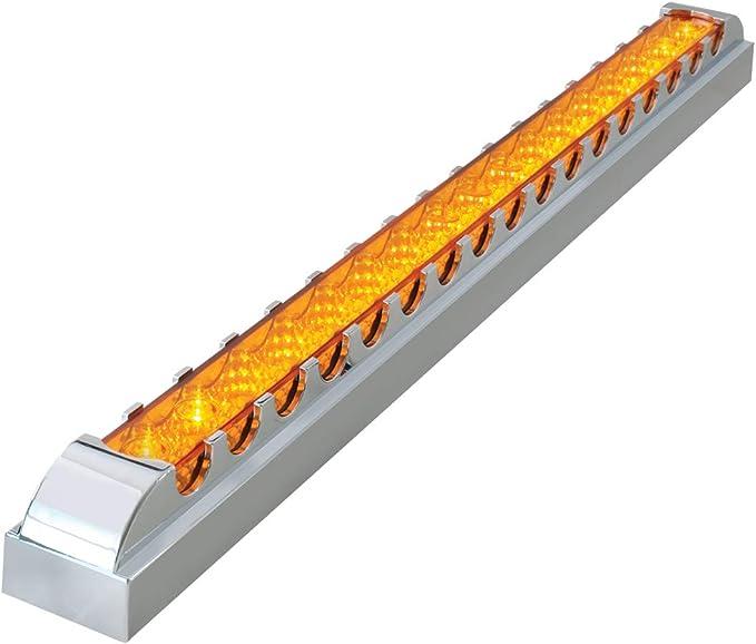 Grand General 76980 Amber 20 Single Row Spyder 17-LED Park//Turn Sealed Light Bar