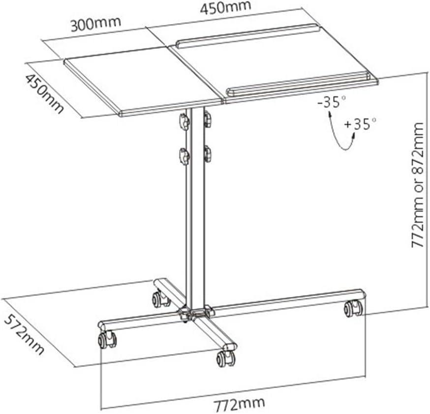 auna Front Stage TS-2 - Mesa de proyección Ajustable, 2 Niveles, 4 ...