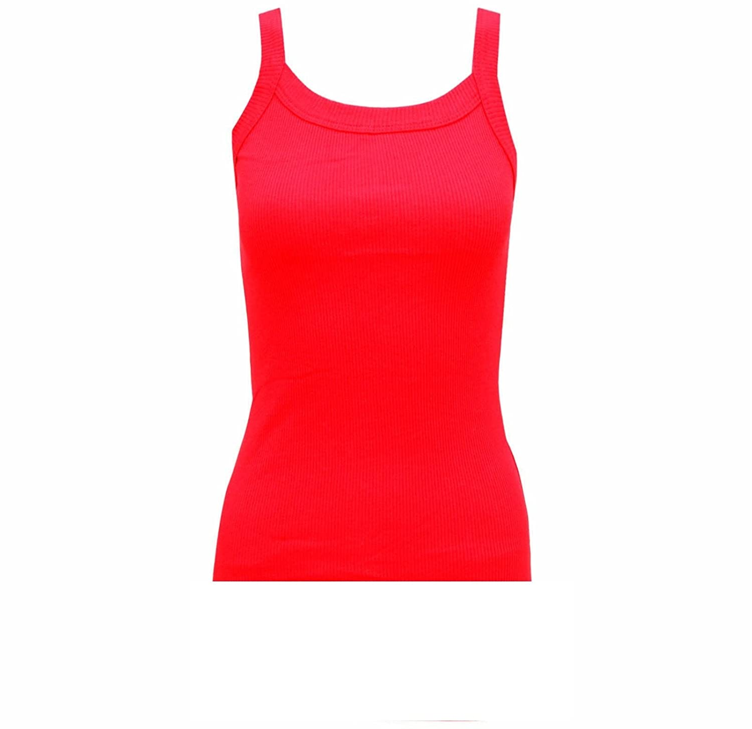 SOFTY Ladies-Sleeveless-Cami-Strap-Ribbed-Vest-Womens-Casual-Vest-Tank-Top-Camisole