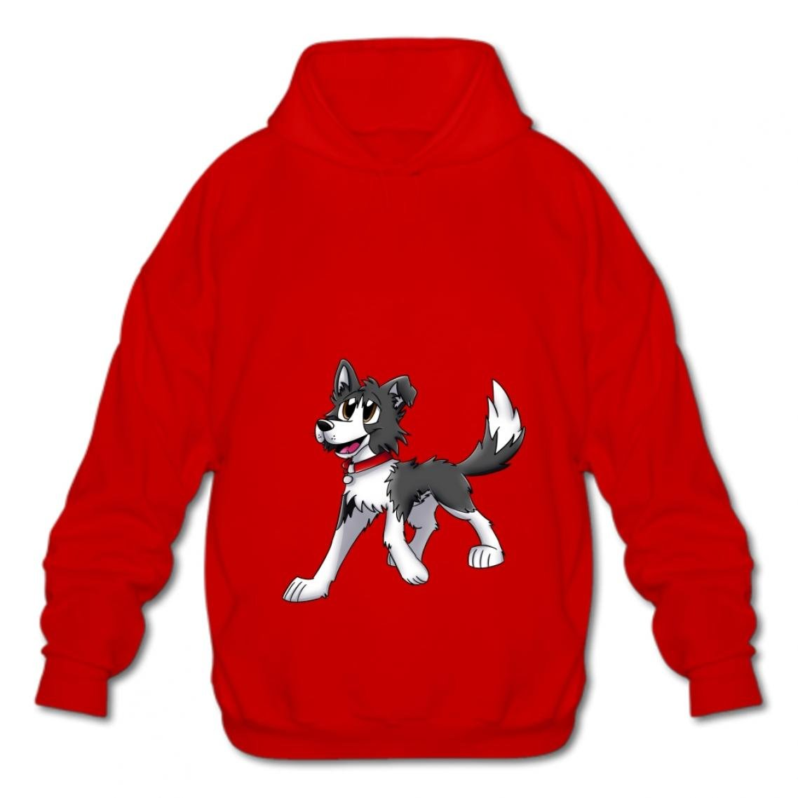 Tngjijish Hooded Sweatshirt Fashion Hoodies-03 Cartoon Dog Wsdc Style Cotton Pullover Men