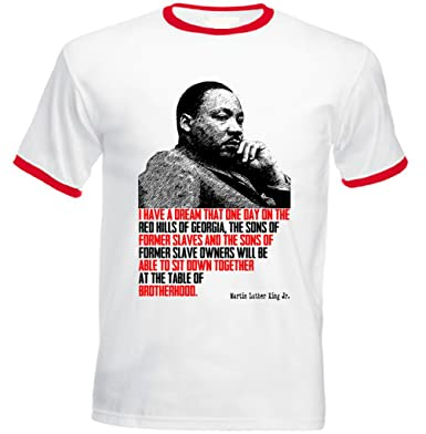 Teesquare1st Men S Martin Luther King 3 Red Ringer T Shirt Amazon