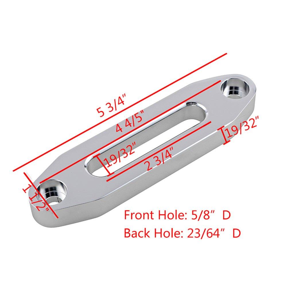 40 Heat Guard 50 x 1//4 Rubber Stopper Kit for Jeep SUV ATV UTV KFI Black Synthetic Winch Line Cable Rope Heat Guard Hawse Fairlead