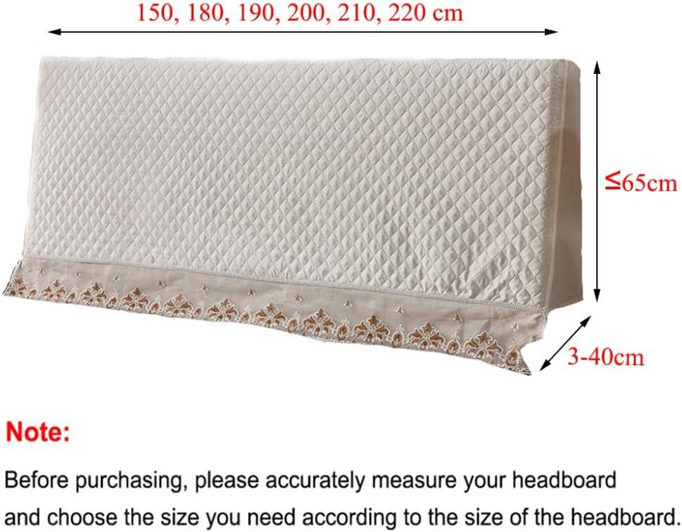 Copri Testata Letto In Tessuto Protezione Da Mobili Fodera Testiere Cover Elastica Copertura Antipolvere Per Camera Da Letto Decorazione,Pink-150x65x(3-40)cm