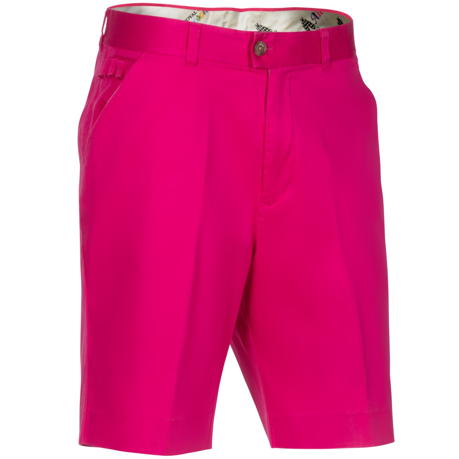 Royal & Awesome Men's Plus Size Golf Shorts, Pink Ticket, 38'' Waist-96 cm by Royal & Awesome