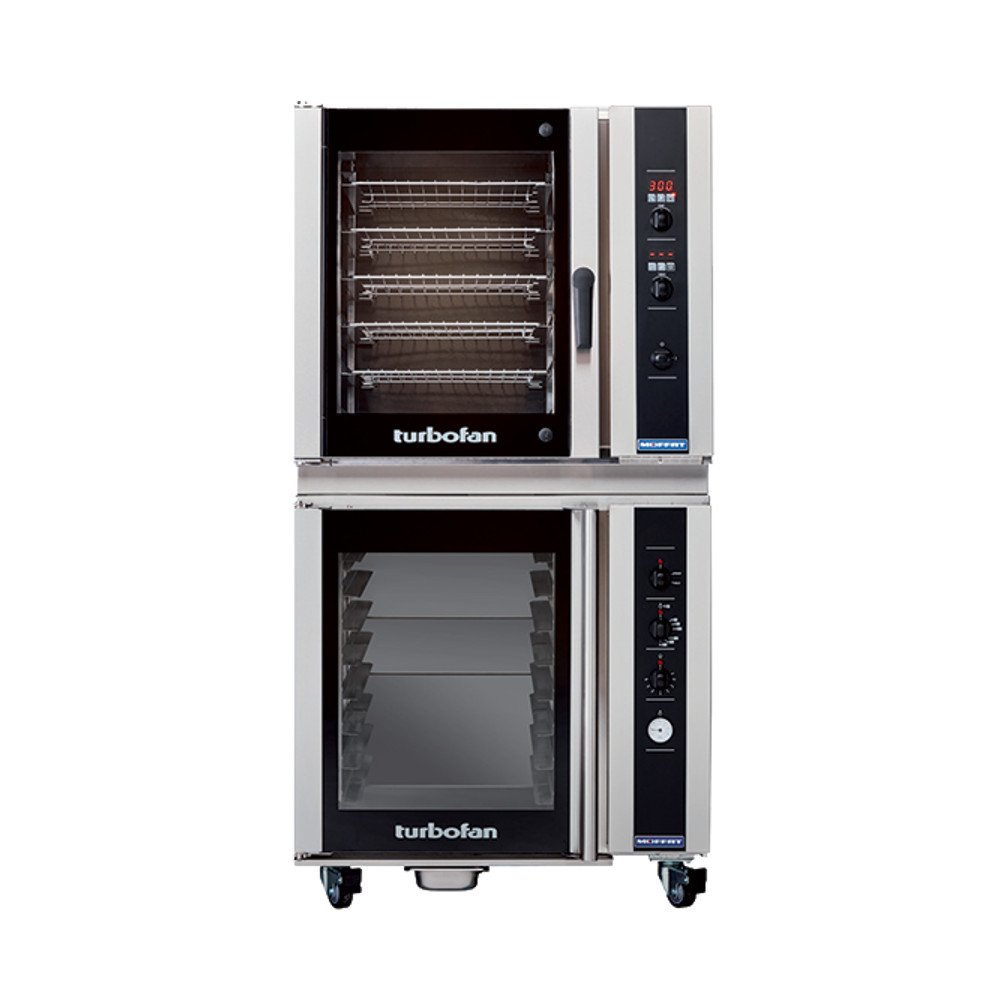 Moffat E35D6-26/P85M8 Turbofan Electric Countertop Convection Oven, (6) Full-Size Sheet Pan Capacity With Digital Controls & P85M8 Proofer Holding Cabinet