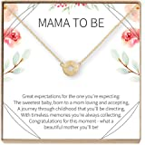 Expecting Mom Gift Necklace - Heartfelt Card & Jewelry Gift for Baby Showers, etc