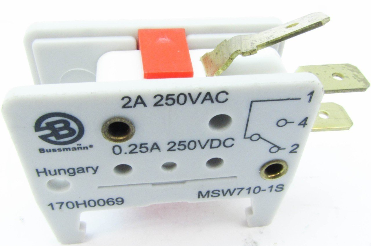 Cooper Bussmann 170H0069 2A 250V Microswitch Micro Switch Fuse (Lot of 4):  Amazon.com: Industrial & Scientific