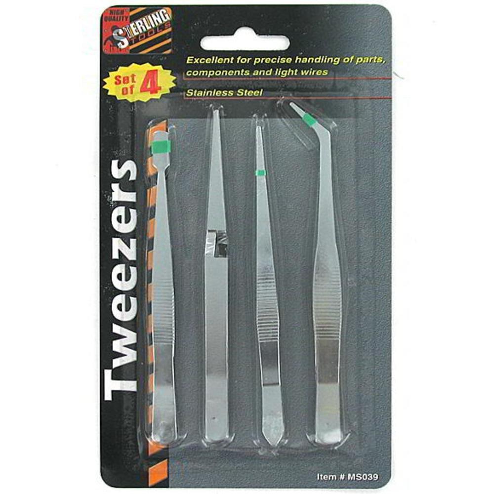 Industrial tweezers set Case of 144