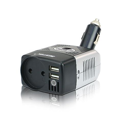 BESTEK MRI1513CE-ES - 150W Inversor 12V a 230V con tomacorriente EU y Puerto USB