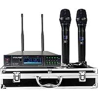 Steelpro Par De Microfonos UHF Profesional De Frecuencia Multicanal