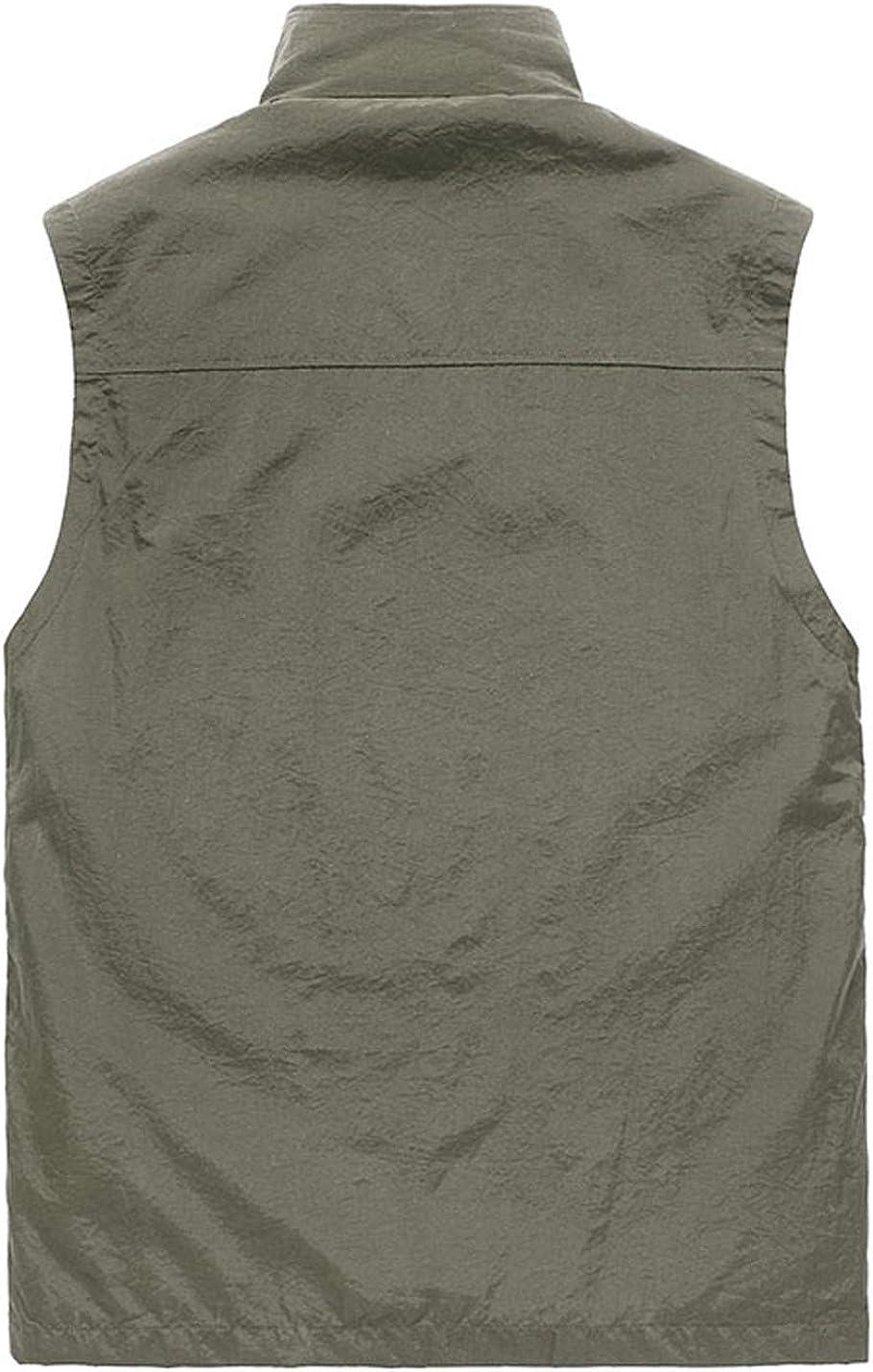 Gihuo Mens Casual Active Lightweight Outdoor Fishing Travel Zip Vest