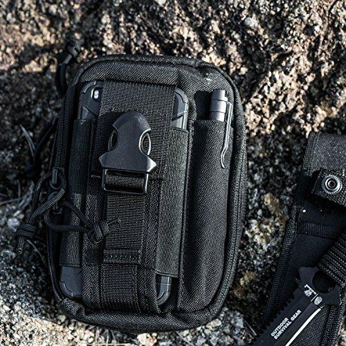 1T EDC Tasche Große Kapazität Hüfttasche Multifunktional Beutel für Outdoor Sport (Schwarz) Schwarz tAr5FVQBp