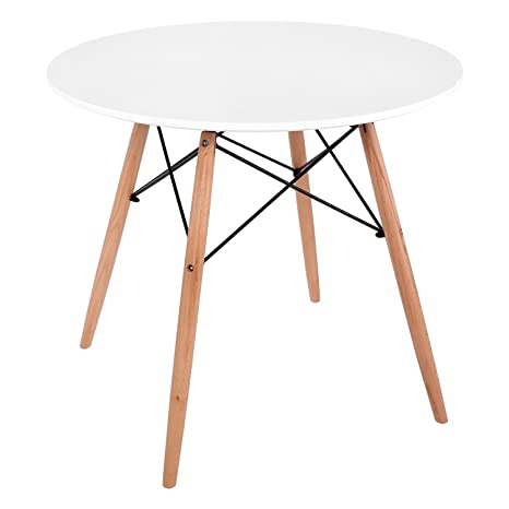 Aimado Table Scandinaves à Manger Table Ronde Pliante Table Repas
