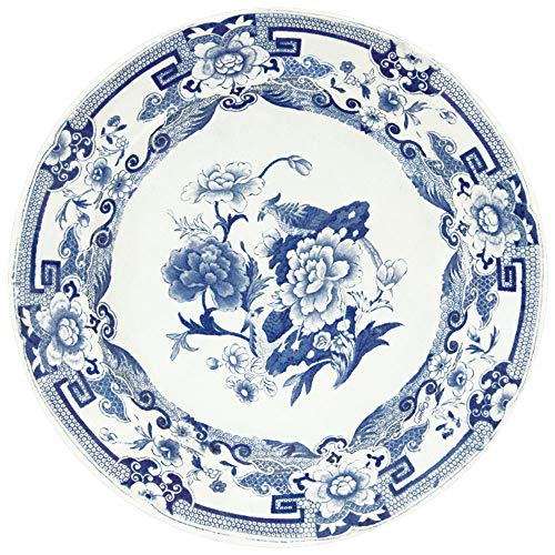 (Caspari Blue & White Die-Cut Coasters, 4 Per Package)