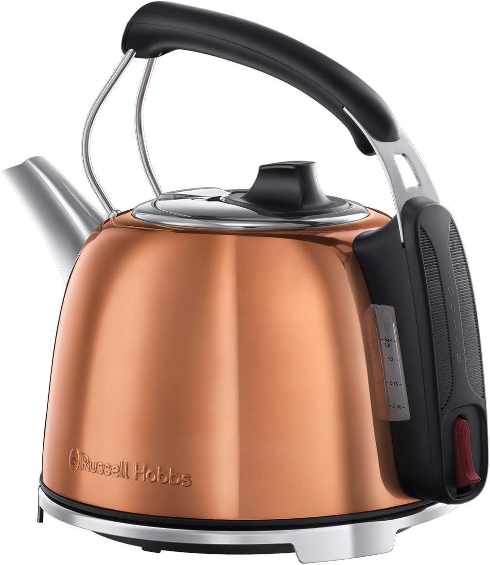cobre 2400 W Russell Hobbs K65 25861-70 Hervidor de agua el/éctrico 1.2 litros Acero INOX Edici/ón Aniversario