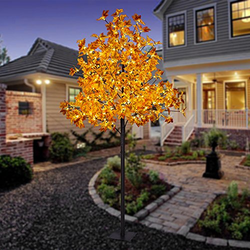 Lightshare FYS8FT Maple Tree with 264L LED Lights - 8' Tall Base
