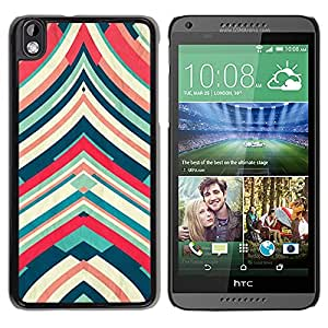 MOBMART Carcasa Funda Case Cover Armor Shell PARA HTC DESIRE 816 - The Ascending Pattern