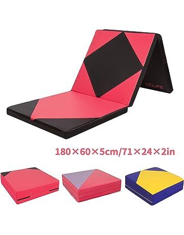 CCLIFE Colchoneta Plegable de Espuma para Gimnasia Yoga Deportiva Yoga estrilla Triple Plegable 180/60