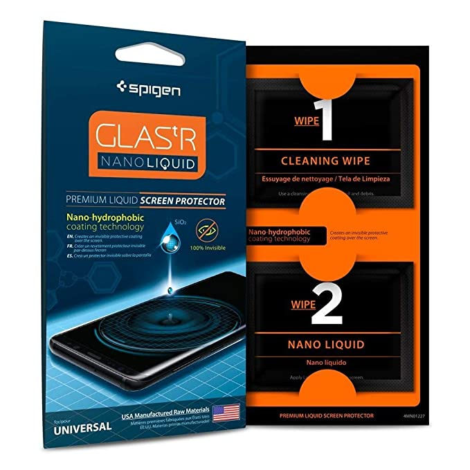 new arrival 899c8 fc35c Spigen Glas.tr Nano Liquid Universal Screen Protection - Clear