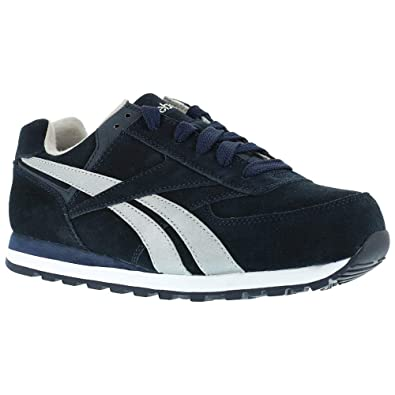4d35bcf95d7a Amazon.com  Reebok Men s Work Leelap Steel Toe Sneaker Navy Blue 5 W ...