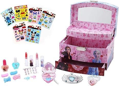ディズニー プリンセス(Disney Princess)アナと雪の女王2 コスメセット アクセサリーセット キッズ用 子供用 化粧品  メイクアップボックス メイクアップセット コスメ コスメボックス メイクボックス + ディズニーシール付き 子供 女の子 アナ雪 アナ エルサ