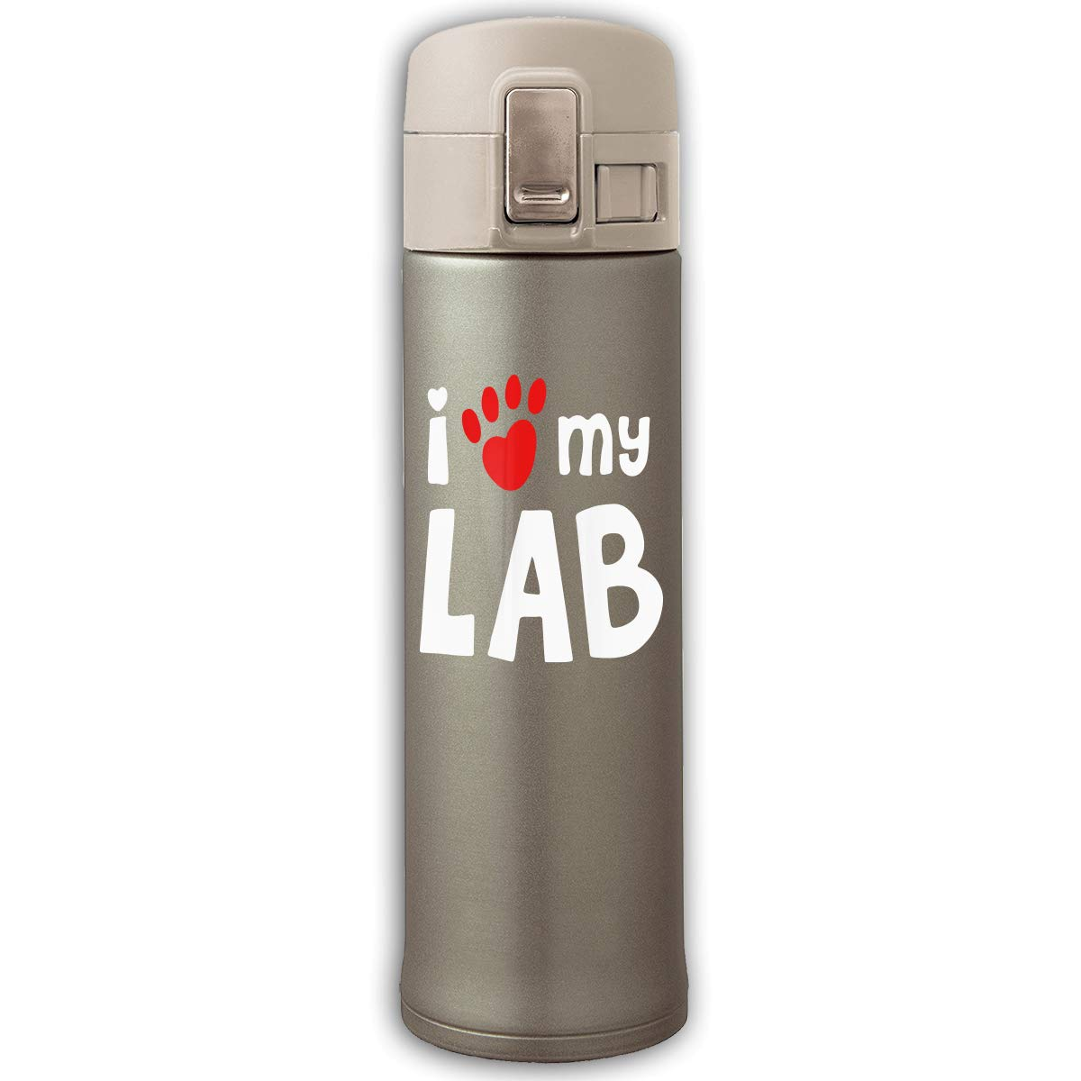 I Love My Lab Labrador Stainless Steel Travel Mug Coffee Mugs With Flip-top Lid, 17 Oz