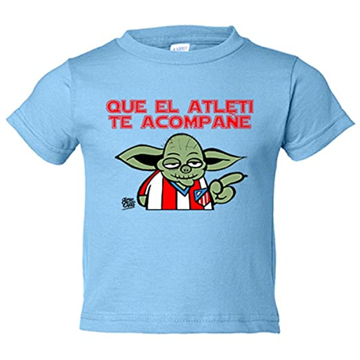 Camiseta niño Atlético de Madrid Que el Atleti te acompañe Star Wars - Amarillo, 3-4 años: Amazon.es: Bebé