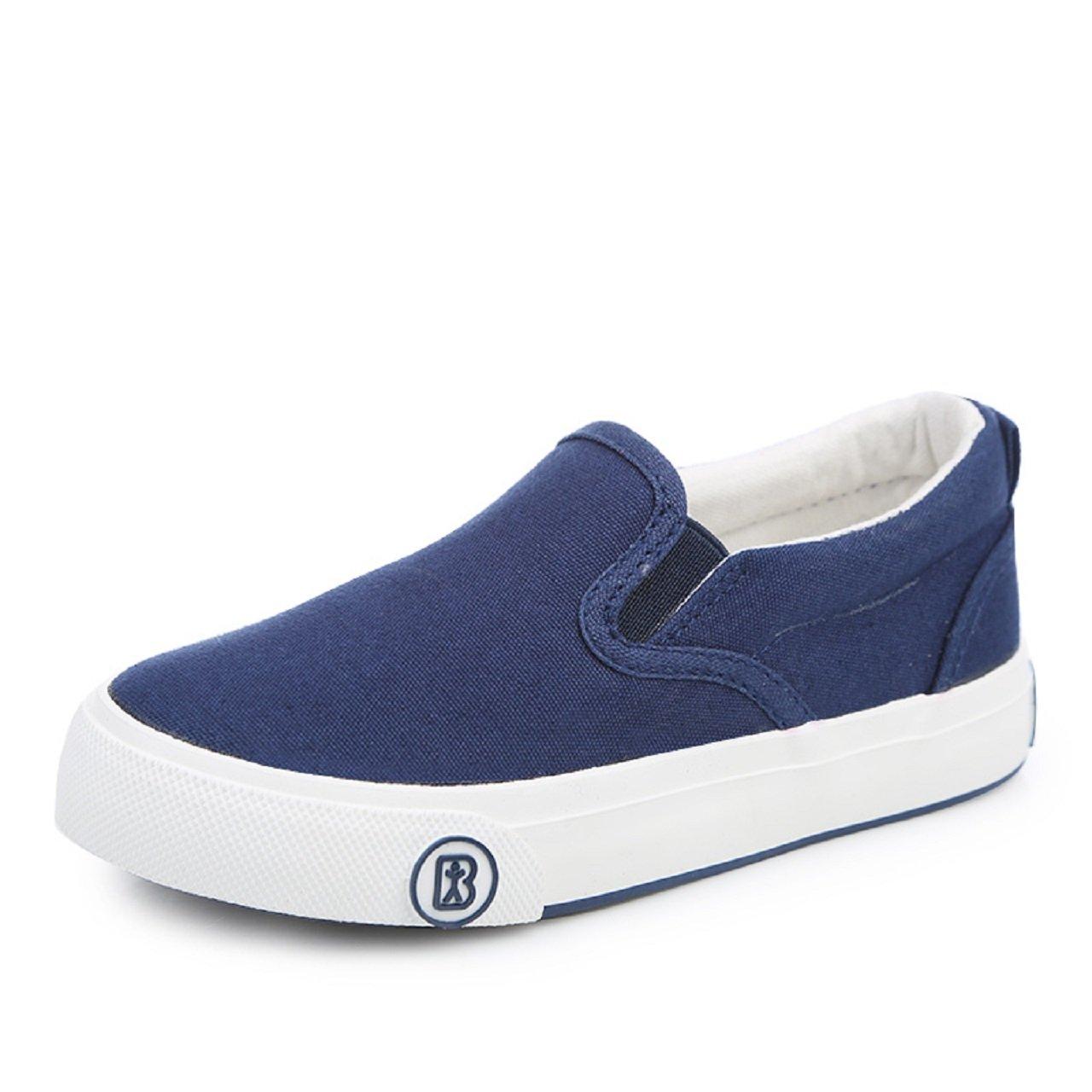 RENBEN Kids Slip On Platform Toddler Sneakers Casual Low Cut Canvas Fashion Shoes