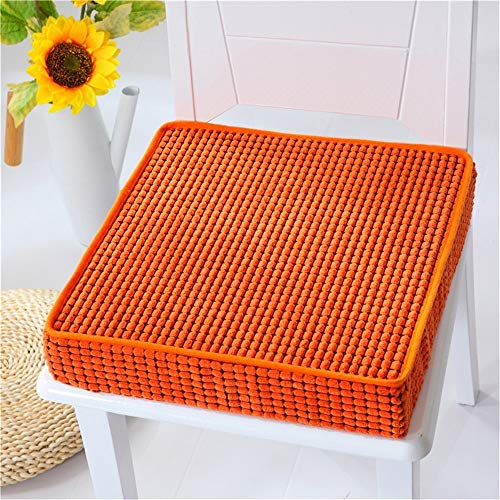 (Yoillione Dining Seat Cushions for Kitchen Chairs,Non Slip Memory Foam Chair Pad Square Chair Cushion,Think Dining Room Seat Pads Indoor Kitchen Seat Cushions,16