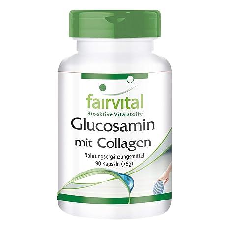 Glucosamina con Colágeno - para 1 mes - Alta dosificación - 90 Cápsulas