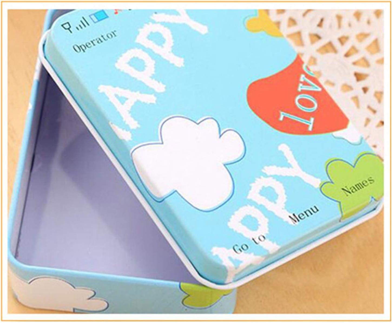 Cfangan Nice 12 Style Mini Tin Metal Box Sealed Jar Packing Boxes Card Box Small Card Holder None H01