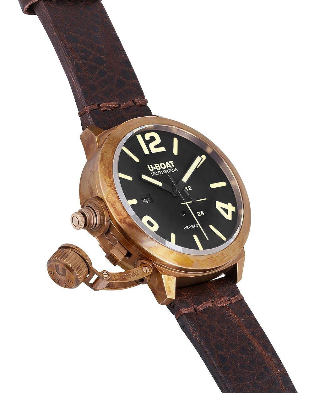 629b5a386750 Amazon.com  U-Boat 8104 Classico 50 Bronzo A BR Wristwatch  Watches