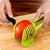 New 1Psc Tomato Food Potato Onion Lemon Vegetable Fruit Slicer Egg Peel Cutter Holder DIY Kitchen Tools Green