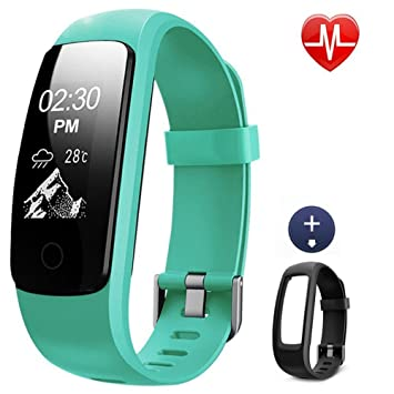 Montre Cardio, Lintelek Bracelet Connecté Sport Cardiofréquencemètre Smartwatch Bluetooth 4.0 Montre GPS Connectée Chronomètre de