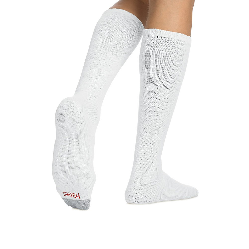 Hanes Men's Over-the-Calf Tube Socks,White,1 PacK (12 Pairs) 10-13