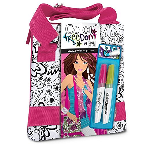 Style Me Up - Kids Tote Bag to Paint - DIY Bag for Girls - Color Me Craft for Kids - Present Idea for Girls - SMU-1801