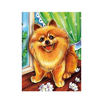 Puppy Dog 5D Diamond Painting Embroidery Animal DIY Cross Stitch Kits Home Decor