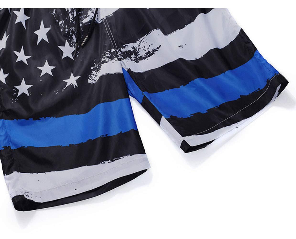 Ophestin Men Swimming Trunks Board Shorts - Quick Dry Beach Shorts with Fun Print Tropical Swim Trunks