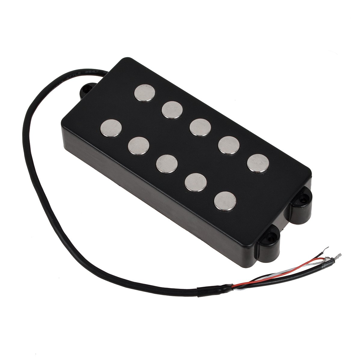 Black 5 String Bass Guitar Pickup Humbucker For Music Man Bass Coil Tap by Kmise (Image #4)
