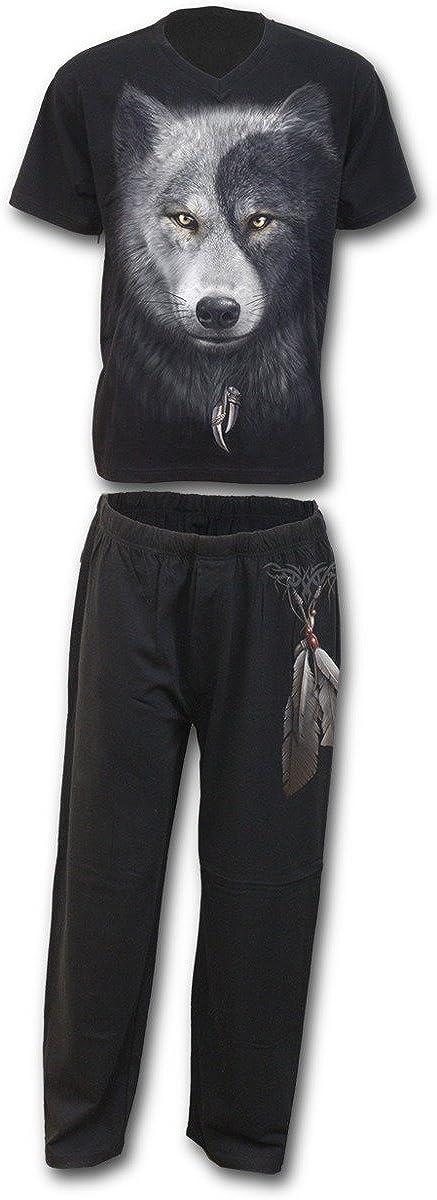 Spiral Mens - Wolf Chi - 4pc Mens Gothic Pyjama Set