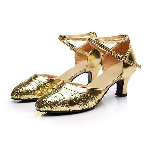 Blando Bajo Latino De Wymname Baile tacón Zapatos Mujeres Fondo E29WHDI