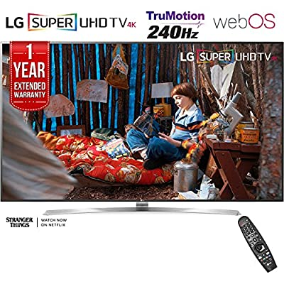 "LG 75SJ8570 - 75"" Super UHD 4K HDR Smart LED TV (2017 Model) + 1 Year Extended Warranty (Certified Refurbished)"