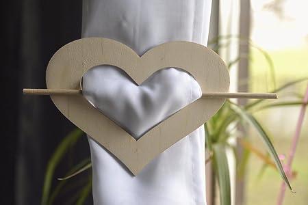 CU14 2 x Plain Wooden Tie back Curtain Tieback Buckle Holder 1 Pair Decoupage