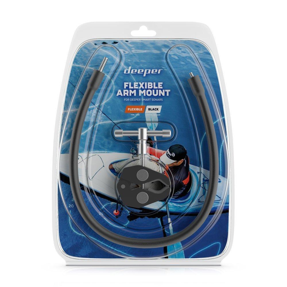 Deeper Flexible Arm Mount 1.0 – Easily mount Deeper PRO-series Fish Finder to Kayak / Boat in secs