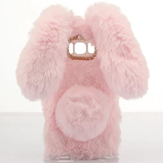best sneakers 8fa41 6dd7b Omorro for Galaxy S5 Case [Plush Rabbit Case] Stylish Desgin Cute Furry  Rabbit Bunny Fur Bling Crystal Rhinestone Design Fluffy Cool Soft  Protective ...