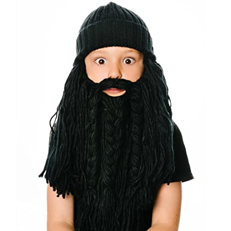 56d3a0e49b8 Amazon.com   Beardo Kids Viking Detachable Beard Hat