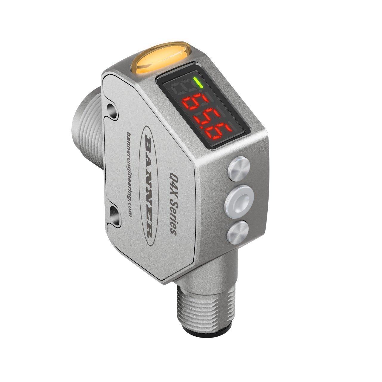 Laser Sensor, Q4X Series, Adjustable, 25 mm to 300 mm, NPN / PNP, 10 to 30 Vdc